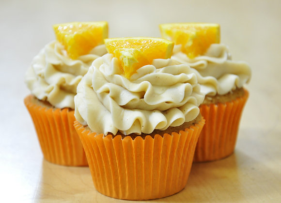 Orange zucchini cupcakes