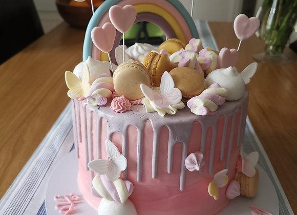Drip cake -pastel rainbow