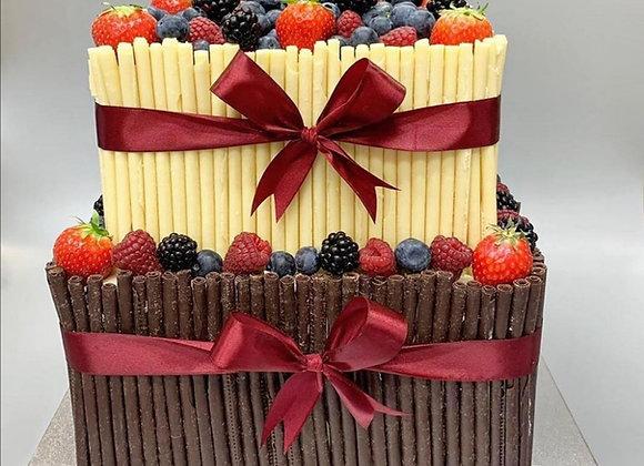 Chocolate cigarello cake