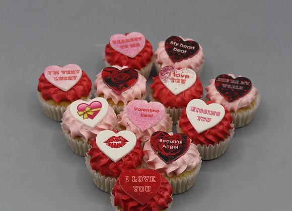 Mini Love you cupcakes