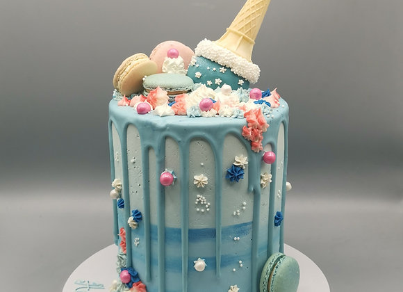 Ice-cream cone cake