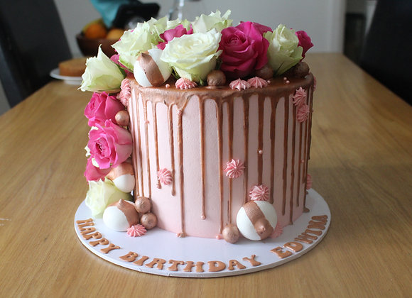 Drip cake - sweet roses