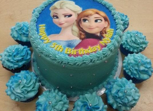 Frozen photo cake