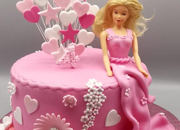 Sitting barbie cake