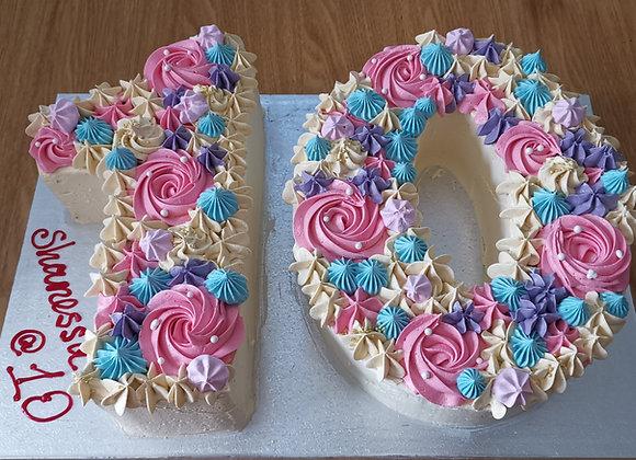 Rosette number cake