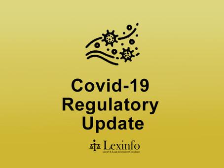 Covid-19 Regulatory Update 13 - 19 October 2021