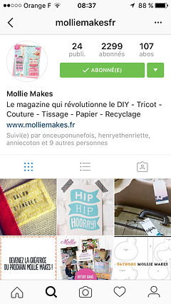 Mollie Makes parle de Galon d'Ingres