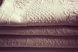 jacquard de coton blanc et esprit boutis _galondingres