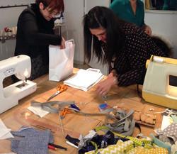 assemblage de la guirlande textile