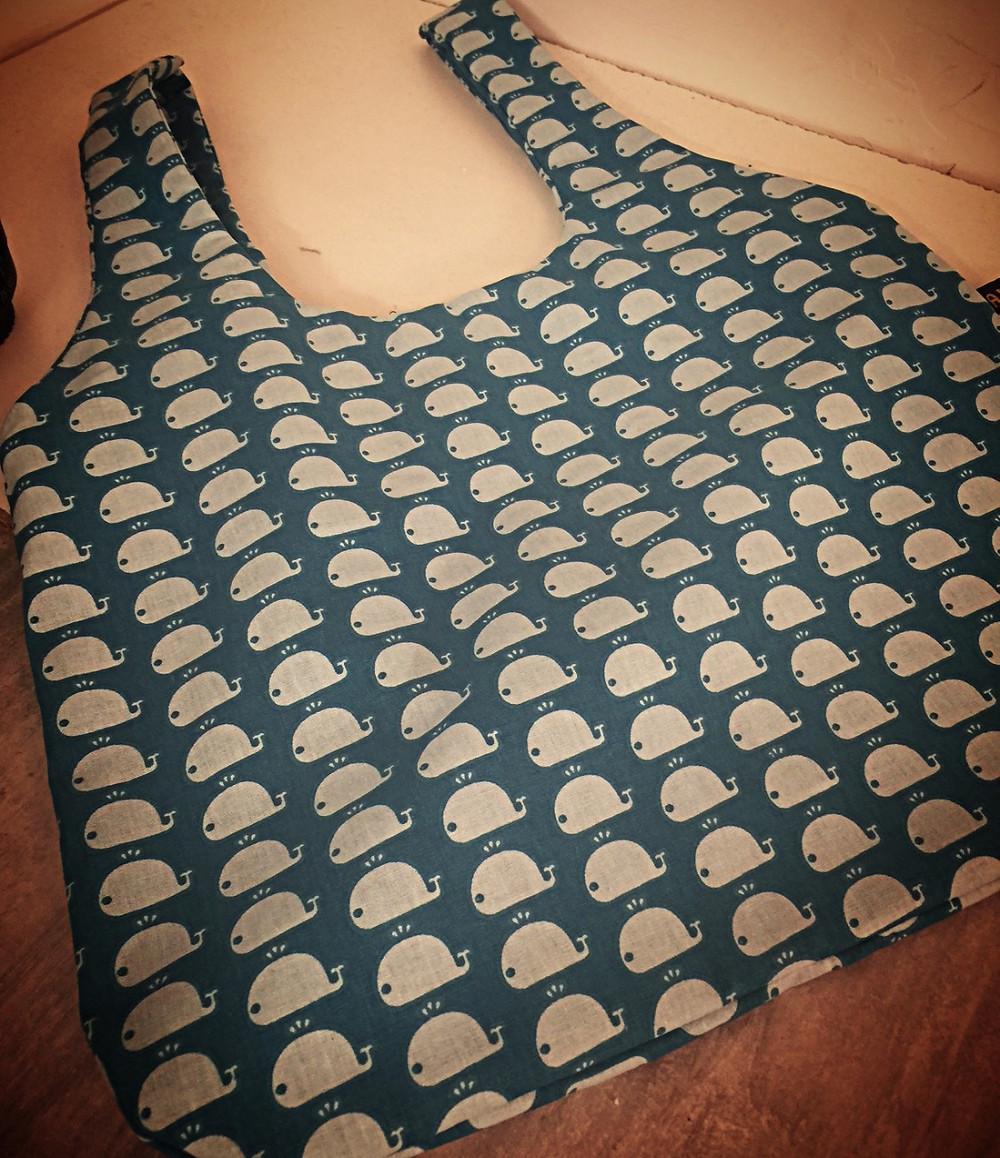 sac shopping imprimé baleine @galondingres