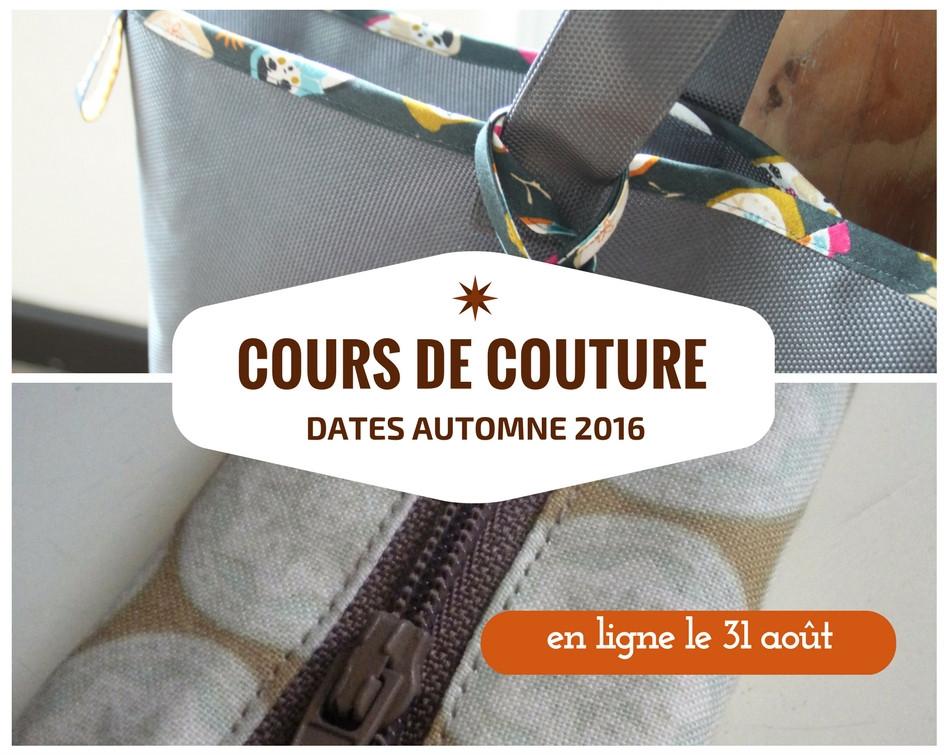 cours de couture - automne 2016 -atelier Galon d'Ingres à Aurillac