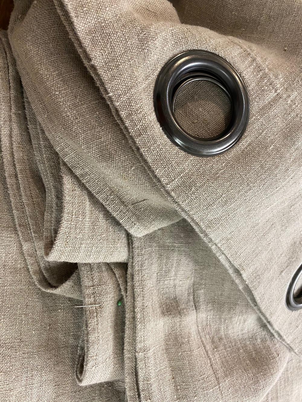 rideau, lin, couture déco et ameublement, atelier Galon d'Ingres