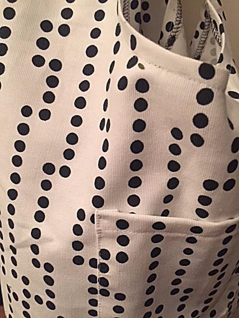détail tissu pour sac shopping