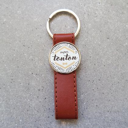 Porte-clés simili cuir TONTON
