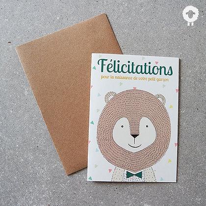 Carte Félicitations - Garçon