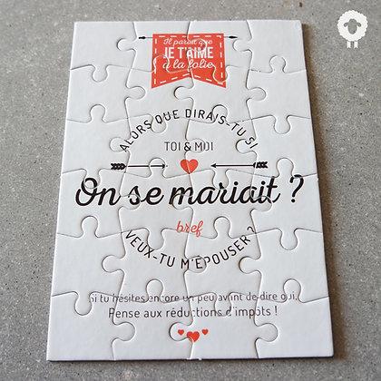 Puzzle demande en mariage