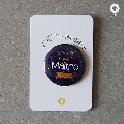 Badge + présentoir maître - AU TOP