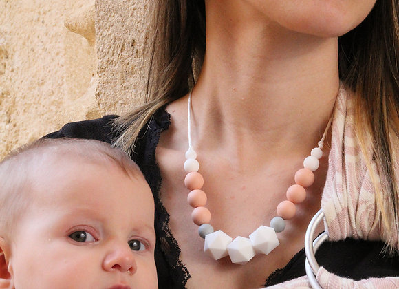 Collier MIDI - TENDRESSE Pêche