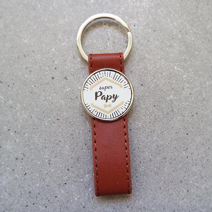 Porte-clés simili cuir papy/papi - HIPSTER