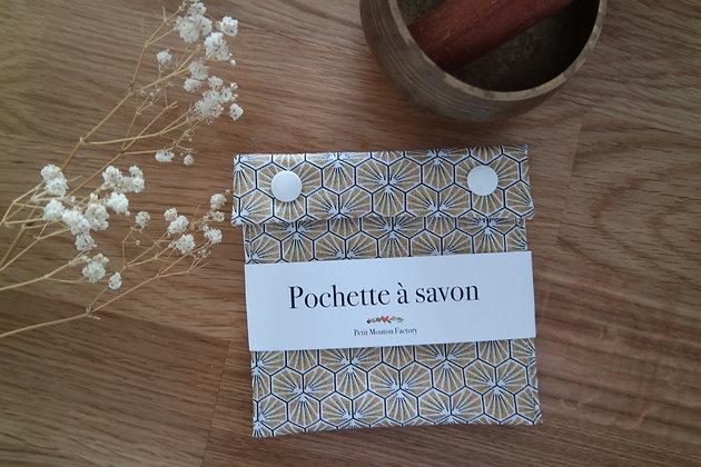 Pochette à savon NOIR/OR GEO