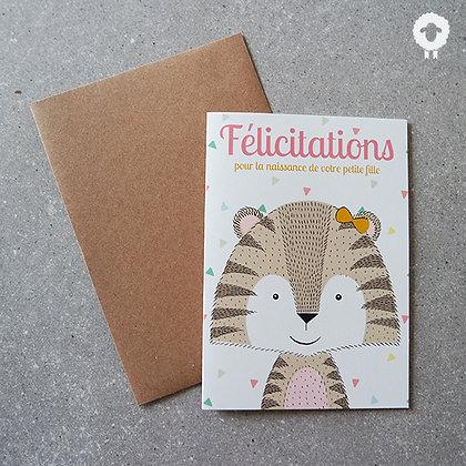 Carte Félicitations - Fille