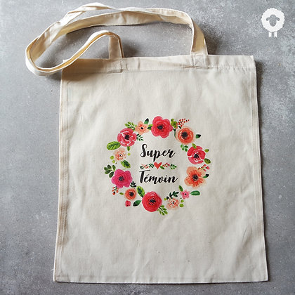 Tote bag témoin - FLOWER