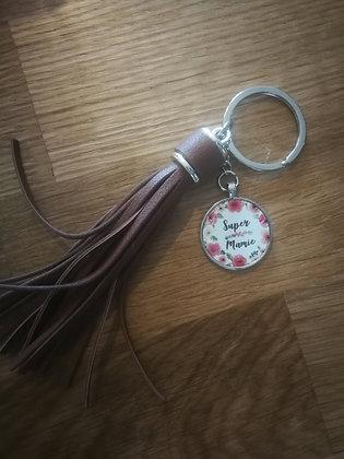 Porte-clés simili cuir MAMIE
