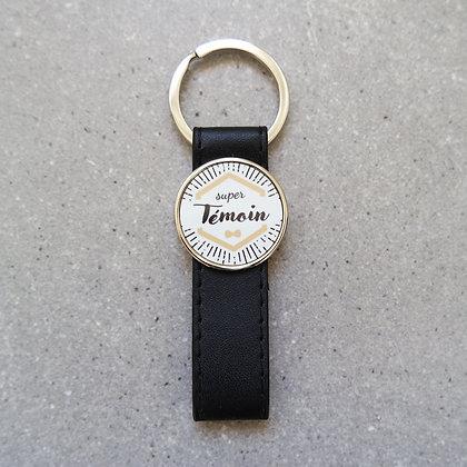 Porte-clés simili cuir TEMOIN