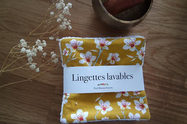 Grandes lingettes FLEUR JAUNE