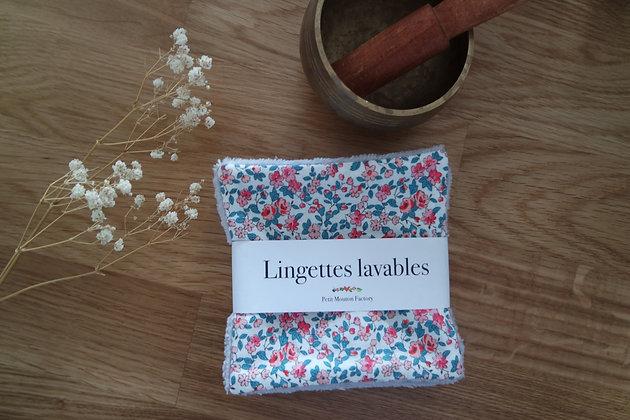 Grandes lingettes FLEUR ROSE