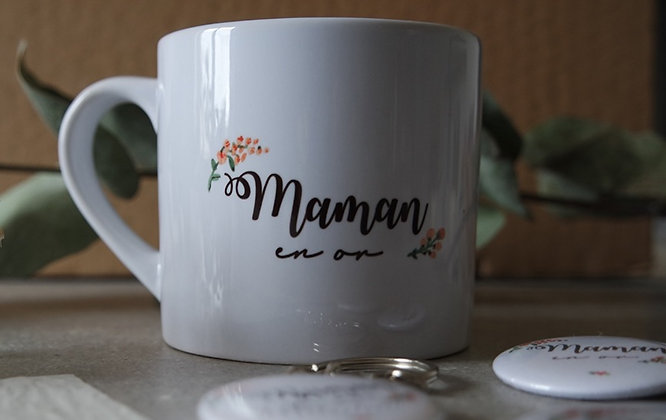 Mini mug FLEUR maman