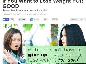 6 Things You'll Have to Give Up if You Want to Lose Weight FOR GOOD (Women's Health)