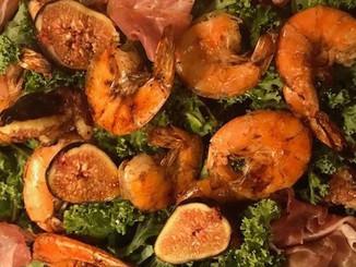 Shrimp & Prosciutto Fig Salad