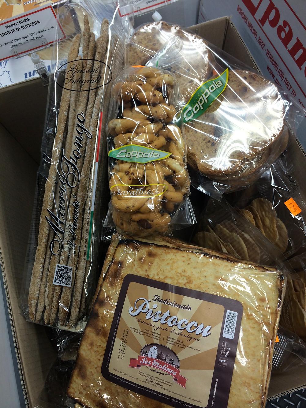 Taralli con Mandorle,  Caponate Bianche, Whole Wheat breadsticks.jpg