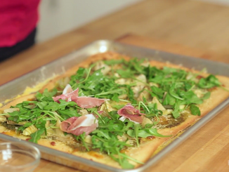 To Eat with Love: Artichoke Arugula Pizza