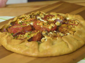 To Eat with Love: Tomato Onion Galette