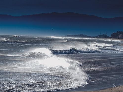 Tramontane en vue de la côte vermeille