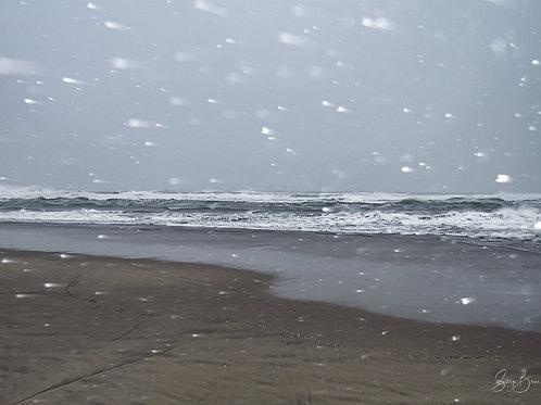 Méditerranée sous la neige