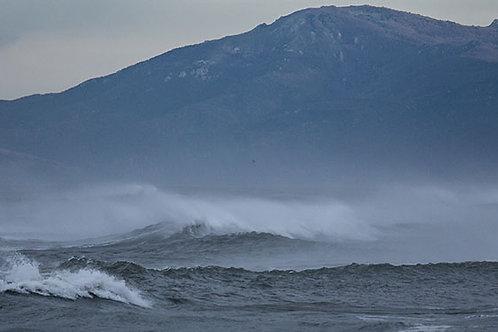 Panoramique Pyrénées en tempète