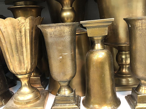 Gold and brass Vases