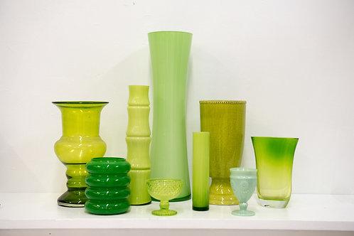 Green Vases