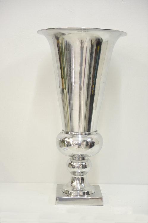 Silver metal urn