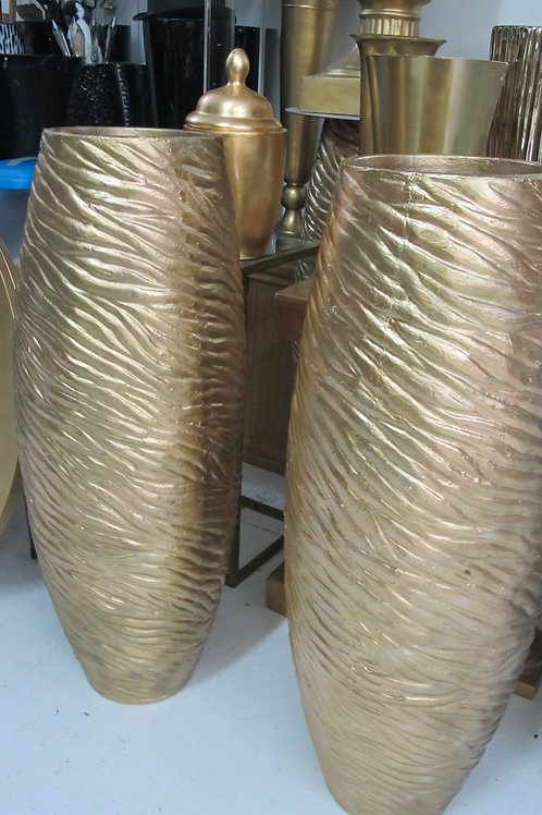 Gold Fiber floor Vases