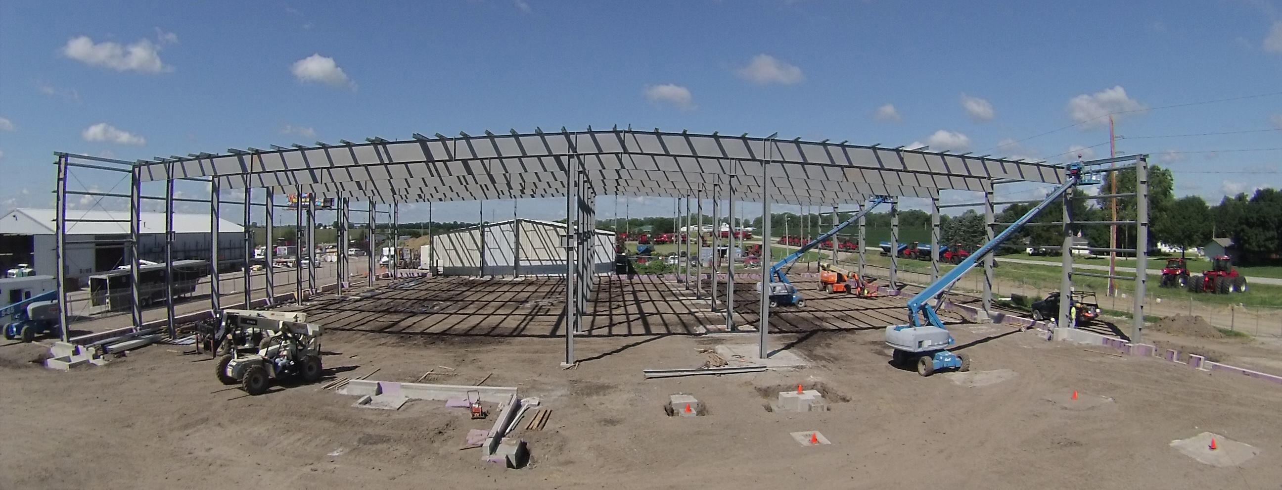 steel buiding framework