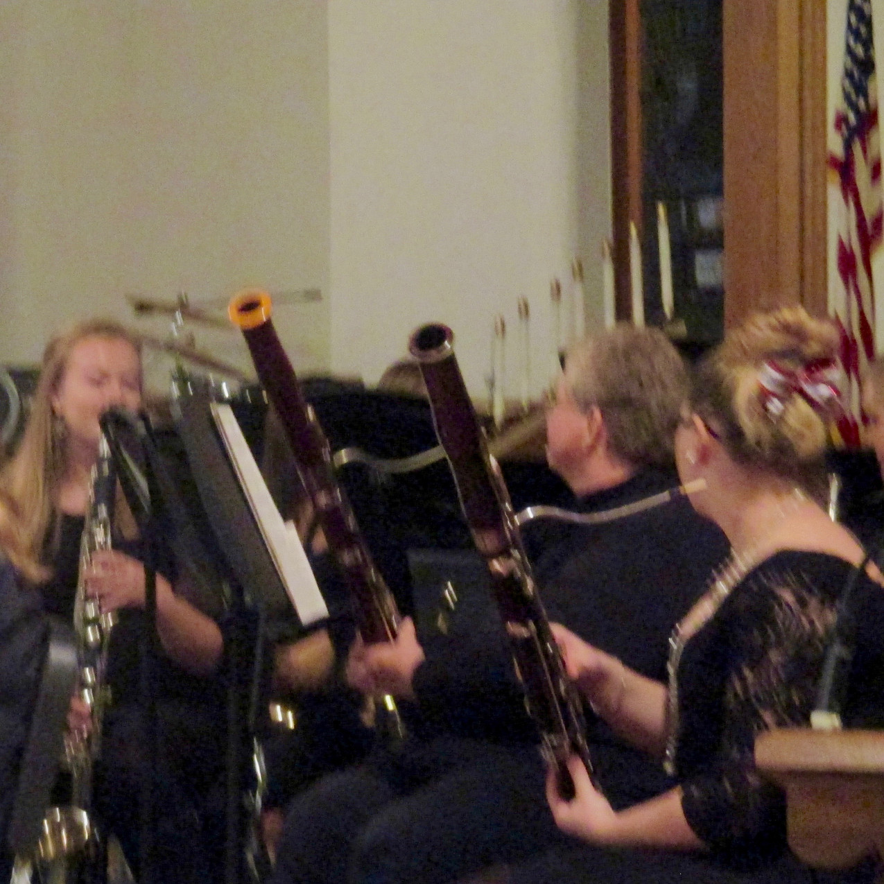The Wind Ensemble, under the director of Jeremy Duby, performed five patriotic pieces during a Nov. 11 Veterans Day concert.