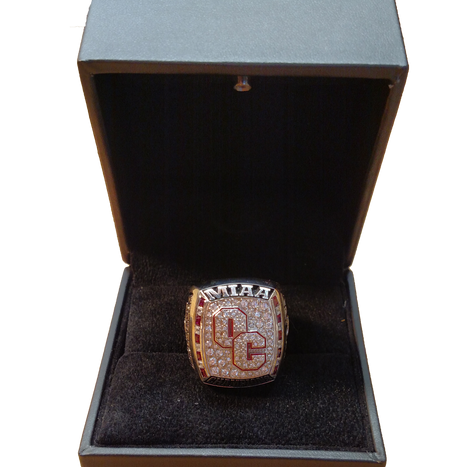 The RINGS are in! After a 9-1 season, the football team now dons new championship rings