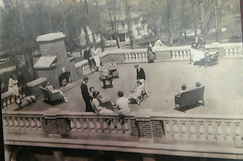 Open Air Deck, Dole Hall, mid- 1930s/Courtesy Photo