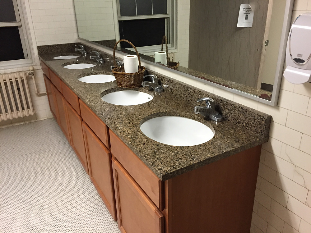 New sinks shine in Dole Hall. The total renovations for all dorms - $2.5 million.
