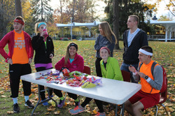 Students give treats for Halloween