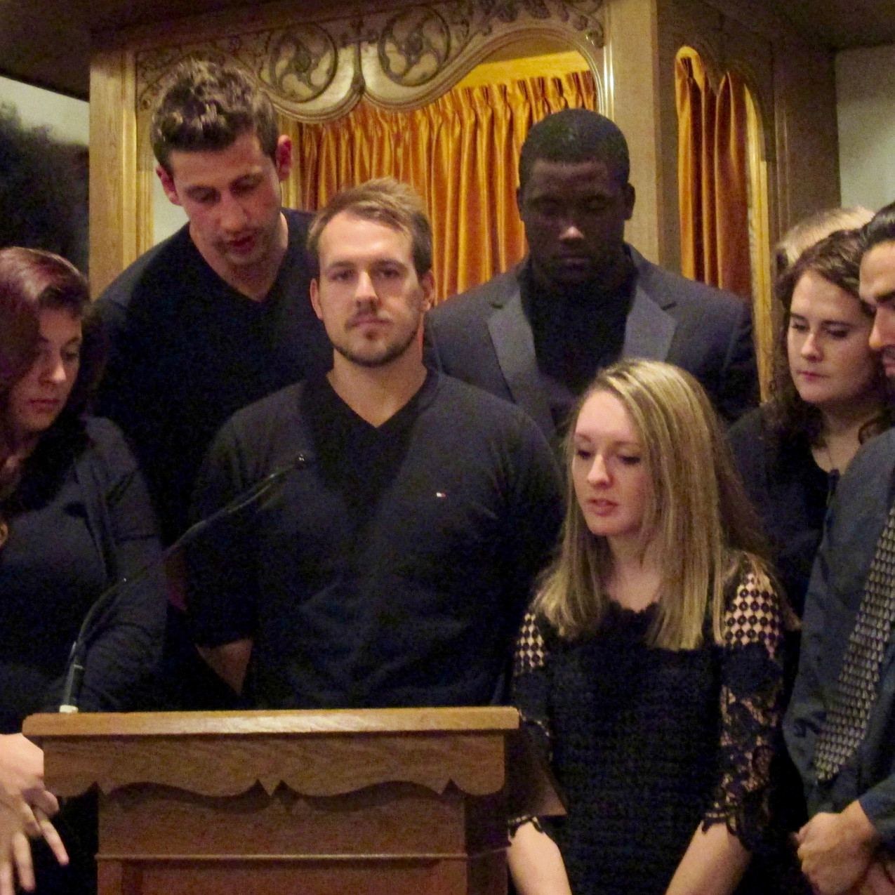 Students presented five dramatic readings during the concert, held in the Olivet Congregational Church.